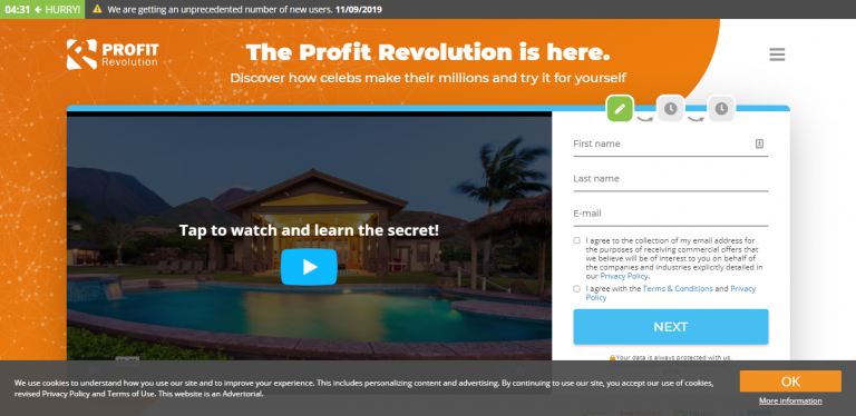 Profit Revolution Website