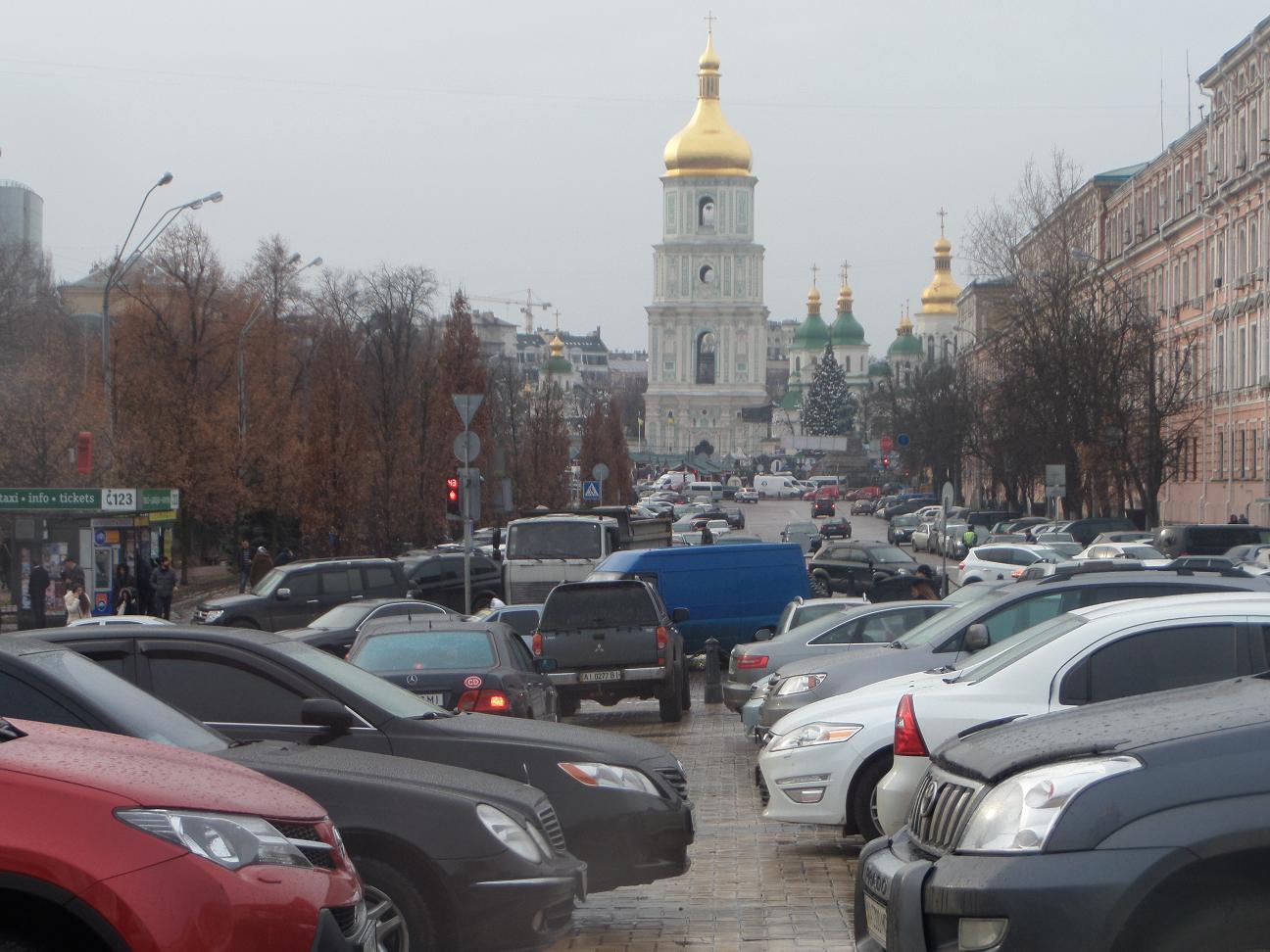 Проблема парковки в центре Киева