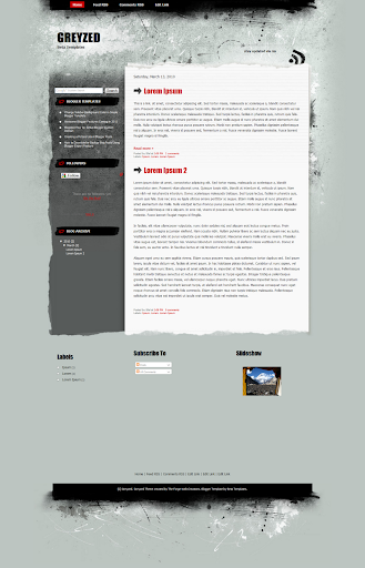 Greyzed blogger teması