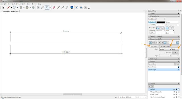 อยากทราบการตั้งค่า Scale ใน Layout SketchUp Layout04