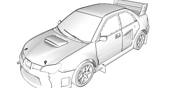 Subaru Impreza STI Group N (Rally Cross Version) from DiRT 2 Game - No Color Stignrc04