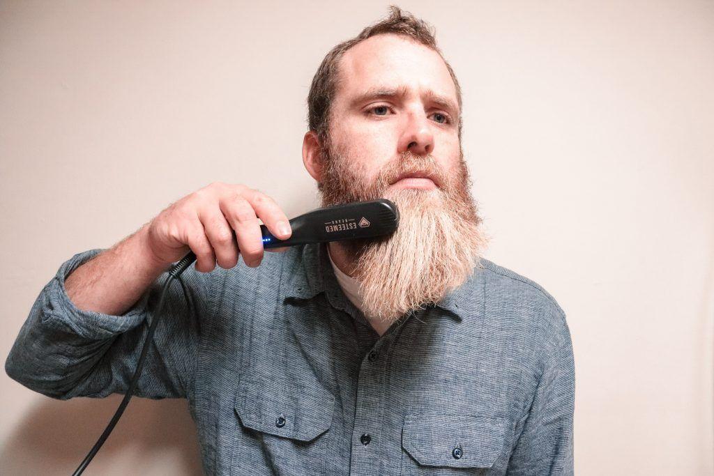 How To Straighten Your Beard - Beard Straightener