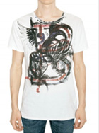 BALMAIN - WINGED B TIGER PRINT JERSEY T-SHIRT