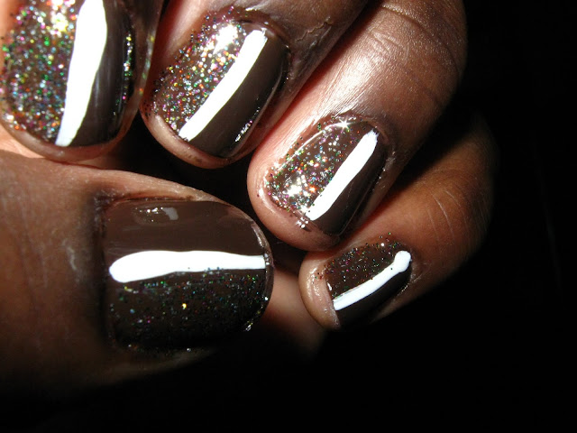 skin-colored nails on black girl