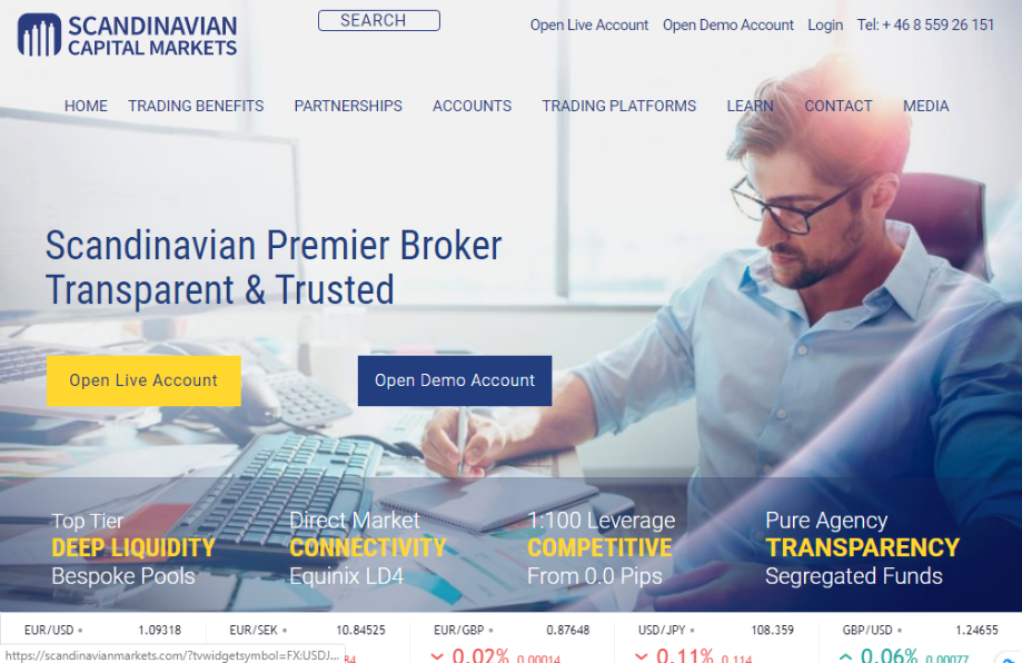 Homepage image of Scandinavian Capital Markets (SCM)