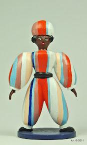Figurine maurisch, 1926 - farblich angelegt