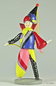 Figurine mir asymmetrischem Kostüm, 1926 - farblich angelegt