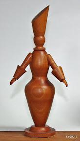 Zweite von drei Figurinen für 'Das Weiße Fest', 1929 - naturbelassen