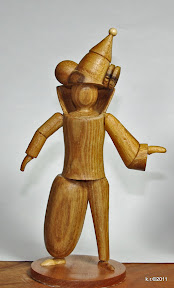 Figurine mir asymmetrischem Kostüm, 1926 - naturbelassen