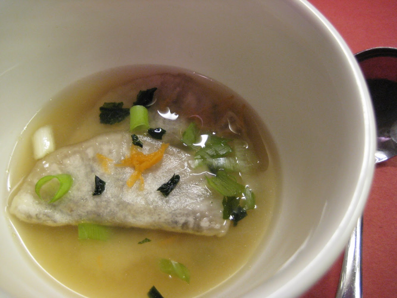 Daikon Dumpling in Miso Broth