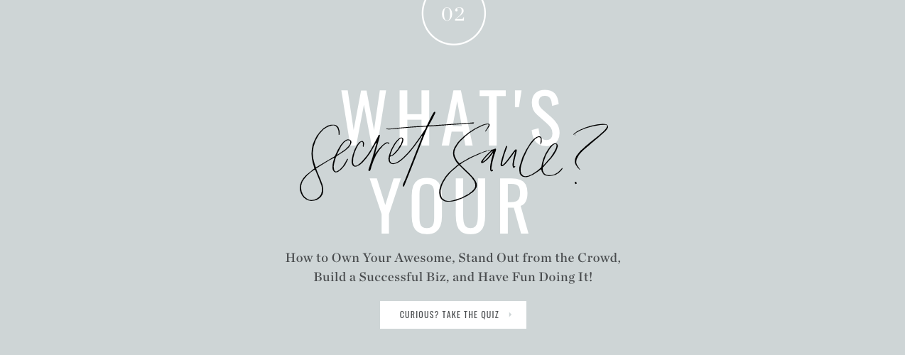 What's your secret sauce? quiz cover