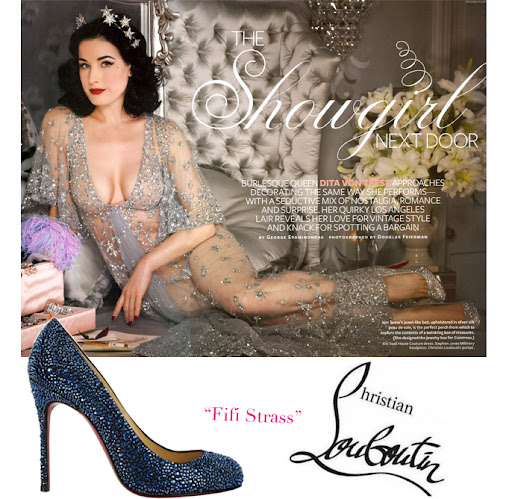 Dita in Christian Louboutin