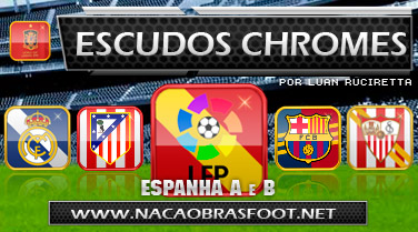 Escudos Chormes Espanhol - Brasfoot 2011