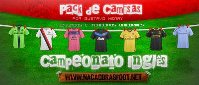 Camisas Inglês 2011 - Brasfoot 2011