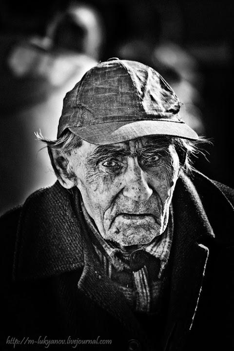 мужчина, старик, портрет, улица, outdoor, man