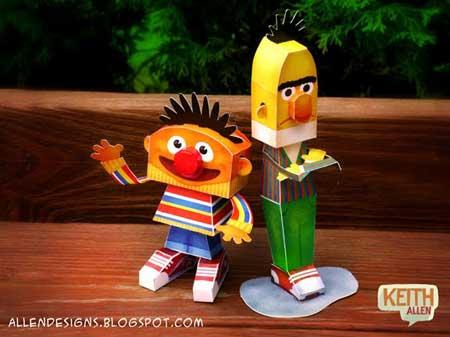 Sesame Street Papercraft Bert and Ernie