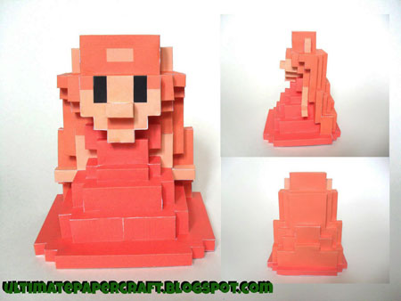 8Bit Zelda Papercraft Looks Like a Troll Princess