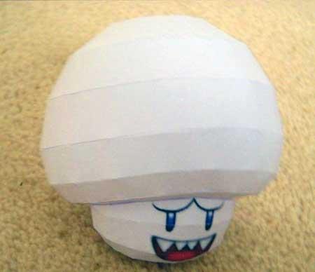 Super Mario Galaxy Boo Mario Papercraft