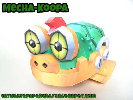 Mecha Koopa Papercraft