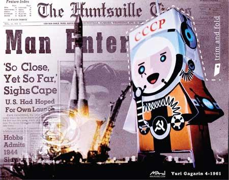 Yuri Gagarin Papercraft Cosmonaut
