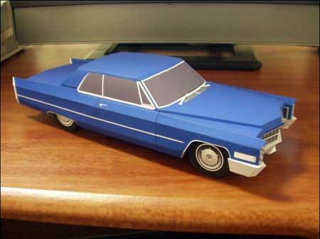 1966 Cadillac Coupe de Ville Papercraft