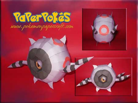 Pokemon Whirlipede Papercraft