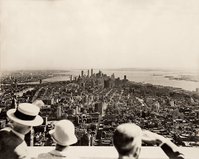 Empire State Building, opening day. Photo by Samuel H. Gottscho, 1931