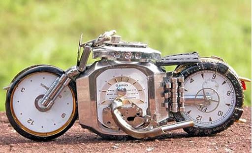 модели мотоциклов из частей часов