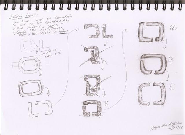 Esboço de selo para o Design Livre