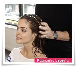 Massageando o cabelo