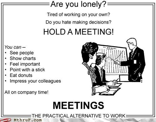 poster of how unproductive meetings can be