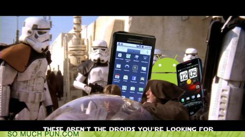 photo of storm troopers saying these aren't your droids at droid phones