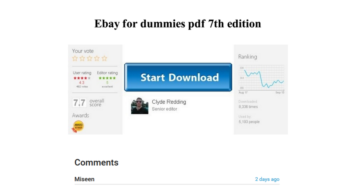 Ebay For Dummies Pdf 7th Edition Google Drive