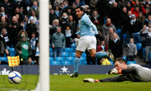 Carlos Tevez, Manchester City - Notts County