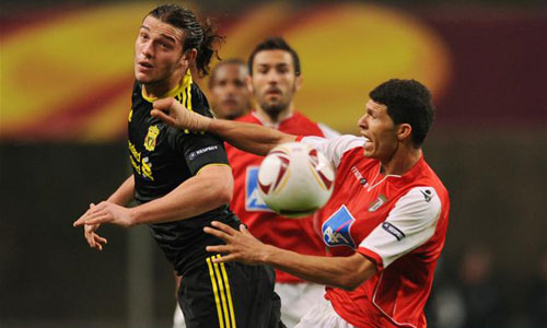 Carroll, Sporting Braga - Liverpool