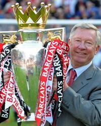 Alex Furguson, English Premier League Trophy Celebration