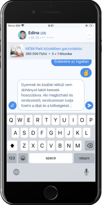 Rentingo mobilapp - Chat