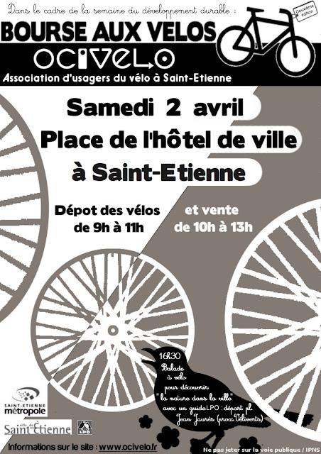 notre Bourse aux vélos le samedi 2 avril de 9h00 à 13h00