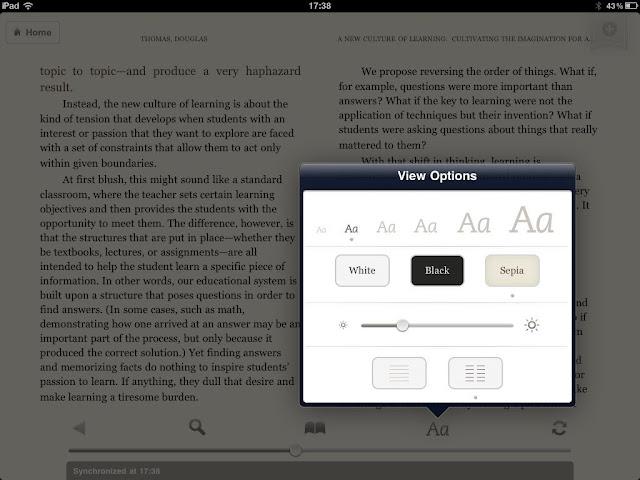 Image: Kindle App on iPad