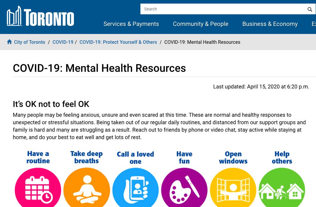 coronavirus mental health resources