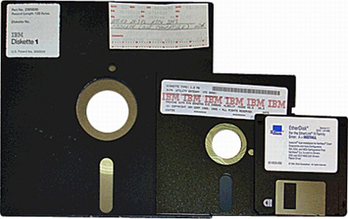 The floppy disks