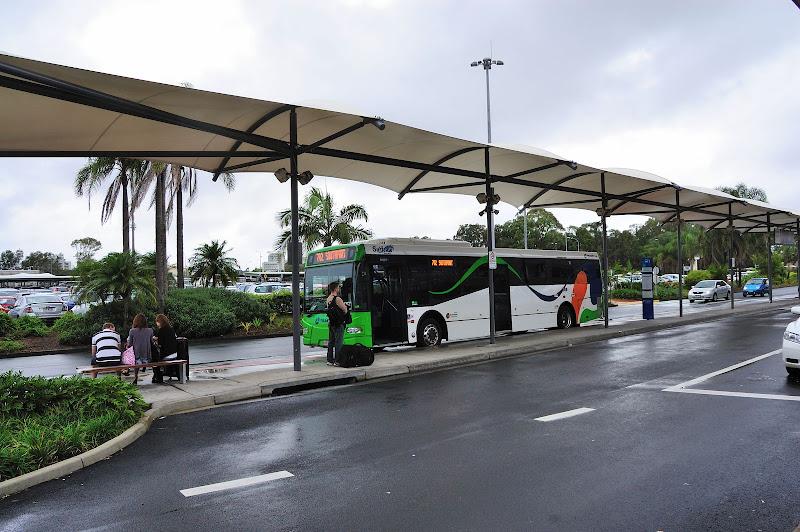 ゴールドコースト国際空港のサーフサイドバスの停留所の写真