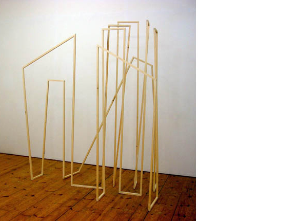 Amy Stephens 'Cutting Corners', 2011<br />Wood and screws<br />200 x 190 x 90 cm</a><br /> <a href=