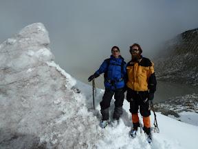 Alpinistes sur le glacier