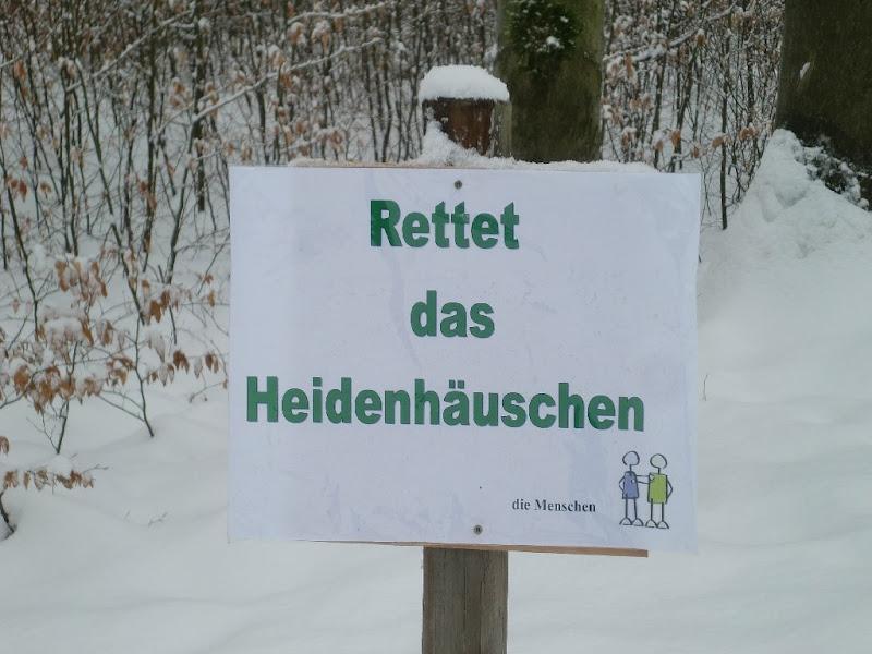 Protestplakat gegen den Steinbruch Lay im Naturschutz und FFH Gebiet Heidenhäuschen bei Ellar Waldbrunn