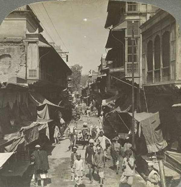 Old India Photos - Delhi street, 1908