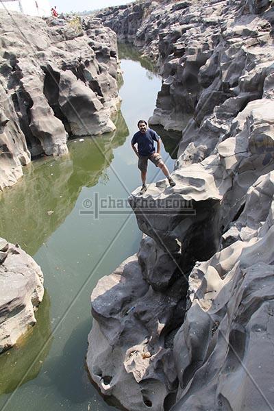 Bhavesh on the edge of potholes
