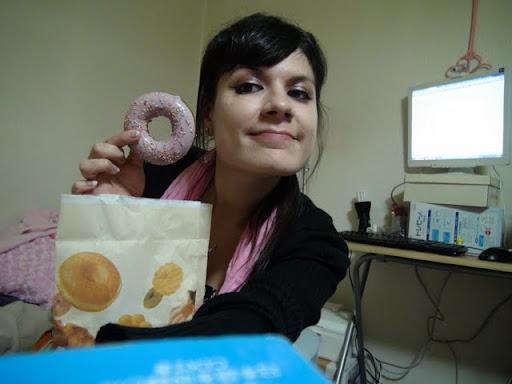 Ho, un donuts à la fraise !