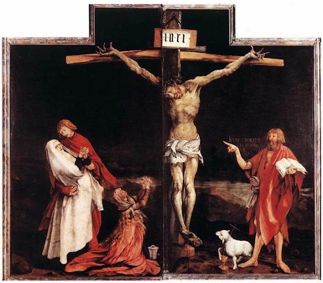 Crucifixion of Christ, by Matthias Grunewald