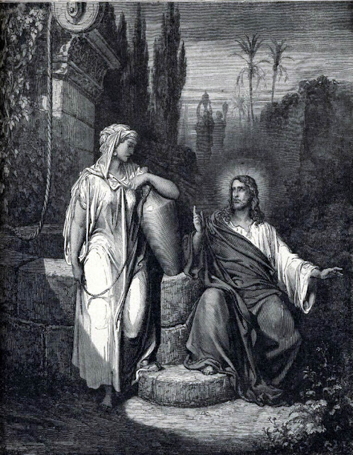 Jesus displays his Omiscience to the Samaritan Woman
